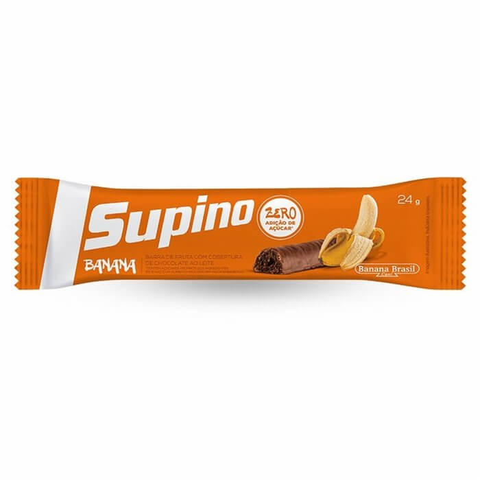 Barra Supino de Banana com Chocolate 24g - Banana Brasil
